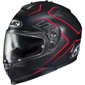 HJC Semi-Flat Black/Red IS-17 Lank MC-1SF Helmet - 596-715