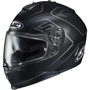 HJC Semi-Flat Black/Gray IS-17 Lank MC-5SF Helmet - 596-753