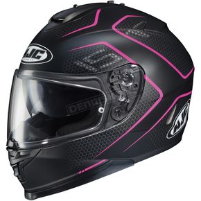 HJC Semi-Flat /Pink IS-17 Lank MC-8SF Helmet - 596-782