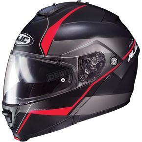 HJC Semi-Flat Black/Red IS-Max2 Mine MC-1SF Helmet - 990-719