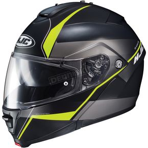 HJC Semi-Flat Black/Neon Green IS-Max2 Mine MC-3HSF Helmet - 990-731