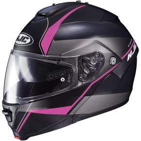 HJC Semi-Flat Black/Pink IS-Max2 Mine MC-8SF Helmet - 990-784