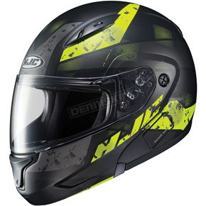 HJC Semi-Flat Black/Neon Green CL-MAXBT 2 Friction MC-3HSF Helmet - 996-737