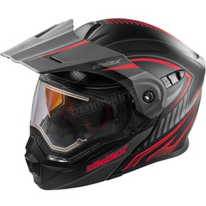 Castle X Flat Red/Black EXO-CX950 Apex Snow Helmet w/Electric Shield - 45-29114