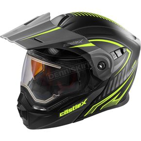 Castle X Flat Hi-Vis/Black EXO-CX950 Apex Snow Helmet w/Electric Shield - 45-29132
