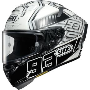 Shoei Helmets Black/Silver/White X-Fourteen Marquez 4 TC-6 Helmet - 0104-1206-03