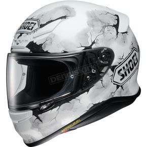 Shoei Helmets Matte White/Black/Gray RF-1200 Ruts TC-6 Helmet - 0109-2806-06