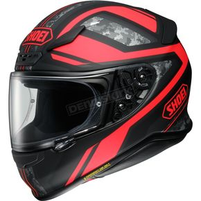 Shoei Helmets Matte Black/Red RF-1200 Parameter TC-1 Helmet - 0109-3001-08