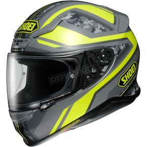 Shoei Helmets Hi-Vis Yellow/Gray Camo RF-1200 Parameter TC-3 Helmet - 0109-3003-05