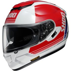 Shoei Helmets Red/White GT-Air Decade TC-1 Helmet - 0118-1901-03