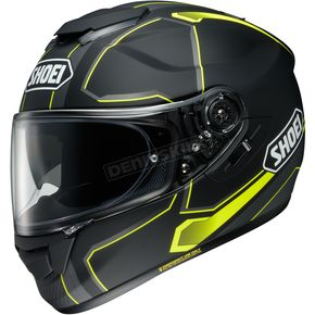Shoei Helmets Matte Black/Gray/Hi-Viz Yellow GT-Air Pendulum TC-3 Helmet - 0118-2003-06