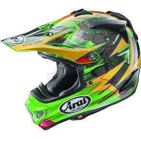 Arai Helmets Green/Yellow/Black Multi-Colored VX-Pro 4 Tickle Trophy Girl Helmet - 807533