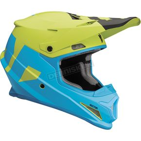 Thor Blue/Lime Sector Level Helmet  - 0110-5147