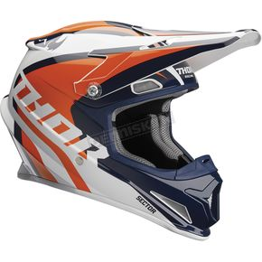 Thor Navy/Orange Sector Ricochet Helmet - 0110-5166