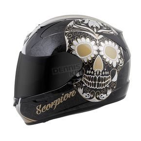 Scorpion Gold EXO-R410 Sugarskull Helmet - 41-1515