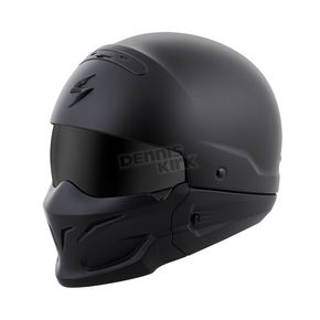 Scorpion Matte Black Covert Helmet - COV-0104