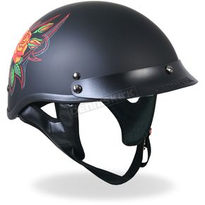 Hot Leathers Womens Pinstripe Rose Helmet - HLD1026M