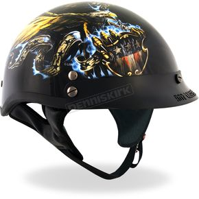 Hot Leathers USA Eagle Glossy Helmet - HLD1028XL