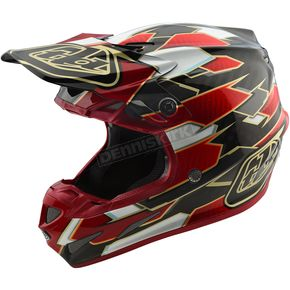 Troy Lee Designs Black/Red Maze SE4 Carbon Helmet - 102492244