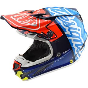 Troy Lee Designs Navy/Red Factory SE4 Composite Helmet - 101008331