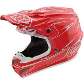 Troy Lee Designs Red Pinstripe SE4 Helmet - 109018401