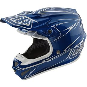Troy Lee Designs Blue Pinstripe SE4 Helmet - 109018303