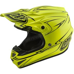 Troy Lee Designs Yellow Pinstripe SE4 Helmet - 109018505