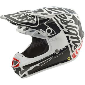 Troy Lee Designs White/Black Factory SE4 Helmet - 109008106