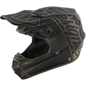 Troy Lee Designs Gray/Black Factory SE4 Helmet - 109008901
