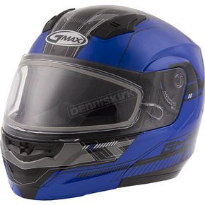 GMax Blue/Black MD04 Quadrant Modular Snow Helmet w/Dual Lens Shield - G2041214 TC-2