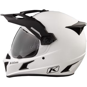 Klim Element Matte White Krios Karbon Adventure Helmet - 3510-000-140-001