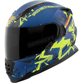 Speed and Strength Royal Blue/Yellow/Black Critical Mass SS1600 Helmet - 1111-0600-4354