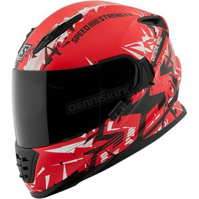 Speed and Strength Red/White/Black Critical Mass SS1600 Helmet - 1111-0600-9254