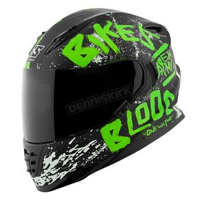 Speed and Strength Green/Black Bikes Are In My Blood SS1310 Helmet - 1111-0601-4655
