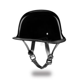 Hi-Gloss Black German Half Helmet - G1-A-L