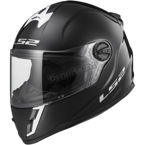 LS2 Youth Gloss Black 392J Helmet - 392-1004