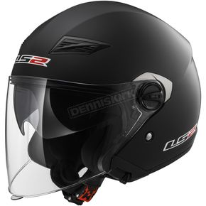 Matte Black OF569 Track Helmet with Sunshield