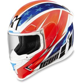 Icon Red/White/Blue Airframe Pro Maxflash Helmet - 0101-10159