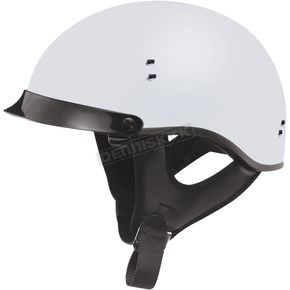 GMax Flat White GM65 Full Dress Half Helmet - G9650436