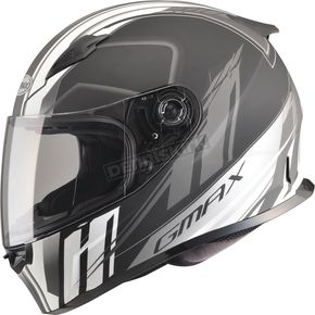 GMax Matte Black/Silver/White FF49 Rogue Street Helmet - G7493434 F.TC-15