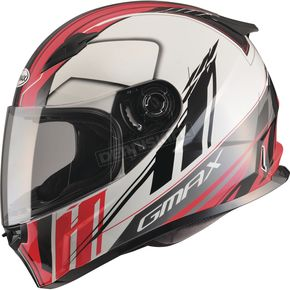 GMax White/Red/Black FF49 Rogue Street Helmet - G7493207 TC-1