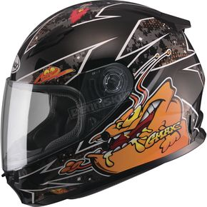 GMax Youth Black/Orange GM49Y Alien Street Helmet - G7496251 TC-6