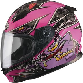 GMax Youth Pink/Purple GM49Y Alien Street Helmet - G7496590 TC-22
