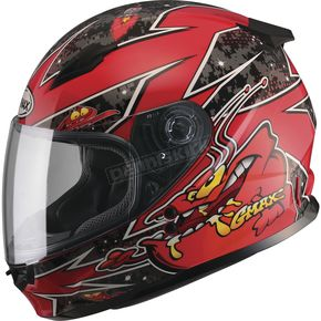 GMax Youth Black/Red GM49Y Alien Street Helmet - G7496200 TC-1