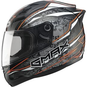 GMax Black/Silver/Hi-Vis Orange GM69 Mayhem Helmet - G7693695 TC-26