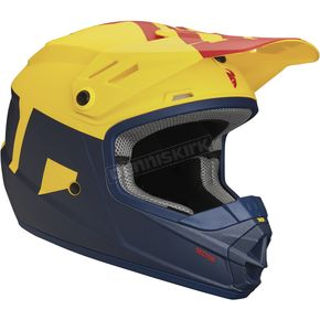 Thor Matte Navy/Yellow Youth Sector Level Helmet - 0111-1086