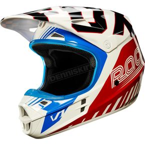 Fox Blue/Red V1 Fiend SE Helmet - 18990-149-M