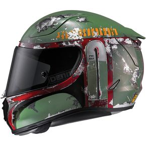 HJC Semi-Flat Green RPHA-11 Pro Star Wars Series Boba Fect MC-4SF Helmet - 1666-744