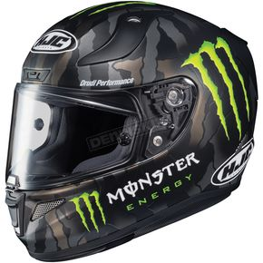 HJC Semi-Flat Black RPHA-11 Pro Monster Energy Military Camo MC-4 Helmet - 1668-751