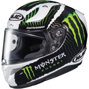 HJC Military White Sand RPHA-11 Pro Monster Energy MC-5SF Helmet - 1670-946
